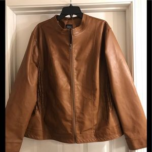 Simply EMMA faux leather jacket